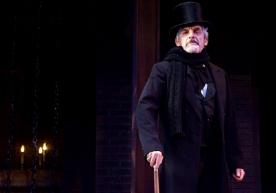 Carl Wallnau as Ebenezer Scrooge in the play A Christmas Carol at Centenary Stage Company in Hackettstown